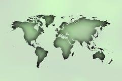 Worldmap over cirkels in blauwachtig royalty-vrije illustratie