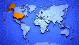Worldmap_usa Stock Images