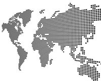 Worldmap white Royalty Free Stock Photo