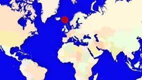 Worldmap Zbliża holandie ilustracja wektor