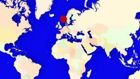 Worldmap zuma in Austria illustrazione di stock