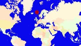 Worldmap zuma in Danimarca illustrazione vettoriale