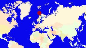 Worldmap zuma in Finlandia royalty illustrazione gratis