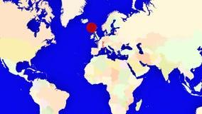 Worldmap zuma in Francia illustrazione vettoriale
