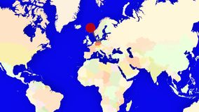 Worldmap zuma in Germania royalty illustrazione gratis