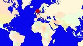 Worldmap zuma in Italia illustrazione vettoriale