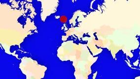 Worldmap zuma nel Belgio illustrazione vettoriale
