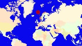 Worldmap zuma in Norvegia royalty illustrazione gratis