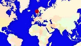 Worldmap zuma in Polonia illustrazione vettoriale