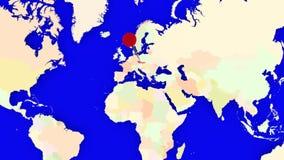 Worldmap zuma in repubblica Ceca illustrazione di stock