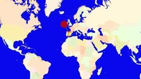 Worldmap zuma in Spagna illustrazione vettoriale