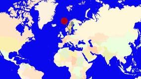 Worldmap zuma in Svezia illustrazione di stock