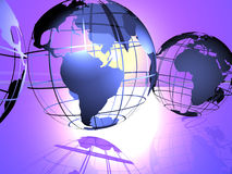 Worlds. 3d render of globes royalty free illustration