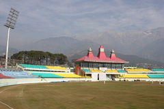 Worlds beautiful Stadium. Worlds Heighest Cricket Stadium Situated At Dharamshala, Himachal Pradesh India Beautiful royalty free stock photo