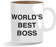 Worlds Best Boss Royalty Free Stock Images