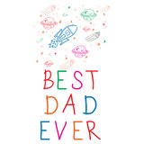 Worlds best dad ever message Royalty Free Stock Photos