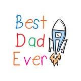 Worlds best dad ever message Stock Photos
