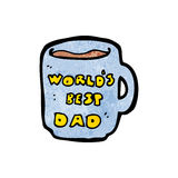 Worlds best dad mug Stock Image