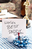 Worlds Best Daddy Stock Photo
