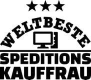 Worlds best female forwarding merchant german. Worlds best female forwarding merchant, agent or broker german Stock Image
