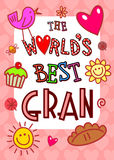 Worlds Best Gran Card Royalty Free Stock Image