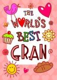 Worlds Best Gran Card stock illustration