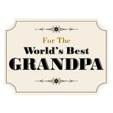 Worlds best grandpa Royalty Free Stock Images