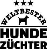 Worlds best male dog breeder german. With dog silhouette royalty free illustration