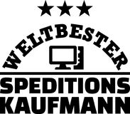 Worlds best male forwarding merchant german. Worlds best male forwarding merchant, agent or broker german Royalty Free Stock Photos