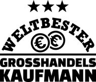 Worlds best male wholesaler german. Worlds best male wholesaler with dollar coins german Royalty Free Stock Photography