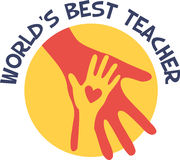Worlds Best Teacher Hands Royalty Free Stock Image