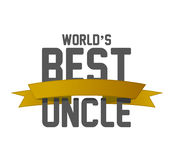 Worlds best uncle ribbon sign illustration design Royalty Free Stock Photography