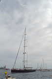 The Worlds Biggest Yacht - Super Sized Sailing Boat Stock Image