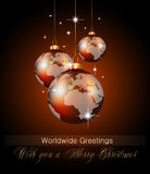 Worlds Christmas Baubles Background Royalty Free Stock Photography