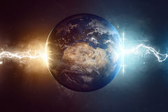 Worlds end. Elements of this image furnished by NASA Royalty Free Stock Photo