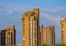 Worlds End Estate. View from Battersea Bridge on Worlds End Estate stock photos