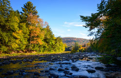 Worlds End State Park. Autumn stock photography