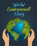 Worlds Environment Day concept royalty free illustration