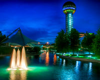 Worlds Fair Park. The iconic Sunsphere in Knoxville, TN, built for the World's Fair in 1980 royalty free stock photo