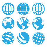 9 Worlds Icons Sets Royalty Free Stock Images