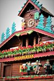 The Worlds Largest Cuckoo Clock. Sugarcreek, OH / United States - May 19 2018: Sugarcreek Ohio is home to the worlds largest cuckoo clock which is also fully Stock Image