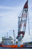 Worlds largest heavy crane Stock Photo
