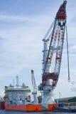 Worlds largest heavy crane Stock Photo