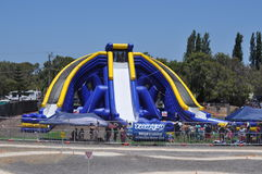 Worlds largest inflatable water slide Stock Photos
