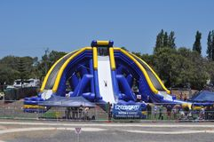 Worlds largest inflatable water slide. Worlds largest inflatable waterslide Busselton western australia January 2015 stock photography