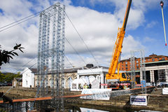 Worlds largest meccano structure Stock Photography