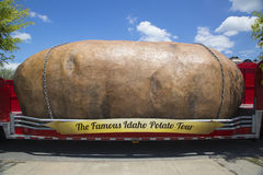 The World's Largest Potato on Wheels presented during The Famous Idaho Potato Tour Stock Image