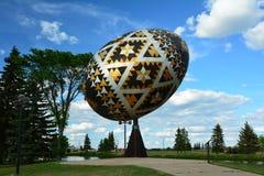 Worlds largest Pysanka egg Stock Photo