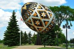 Worlds largest Pysanka egg Stock Image