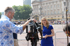Worlds media outside Buckingham Palace Stock Image